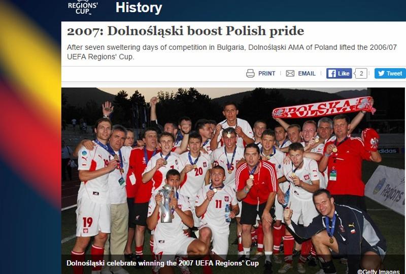 Regions Cup 2007. Oto jak potoczyły się losy naszych mistrzów Europy