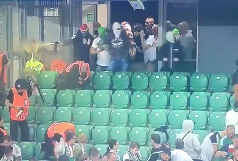 Legia - Borussia kompromitacja gaz