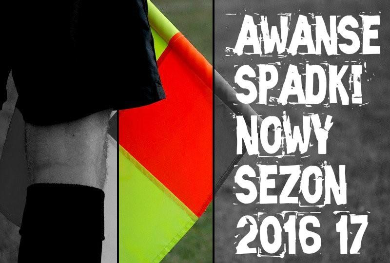 spadki awanse 2016/17 III liga IV liga okręgówka