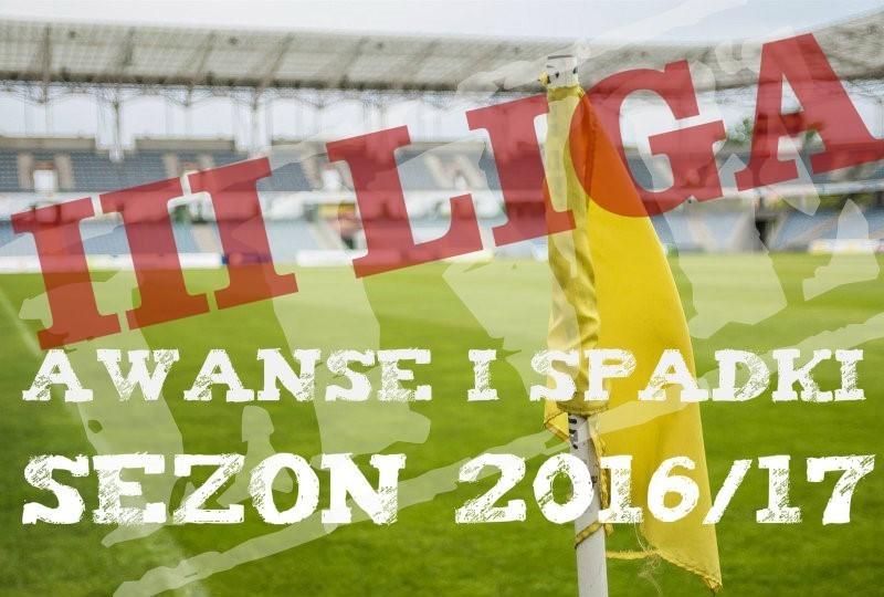 III liga awanse i spadki 2016/17