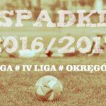 Spadki w sezonie 2016/17 na Dolnym Śląsku [III liga, IV liga, Okręgówka – 29 MAJA]