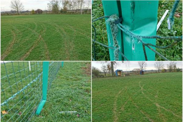 Błyskawica Szewce zniszczone boisko