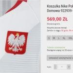 Można już kupić nową koszulkę reprezentacji Polski. Cena szokuje!