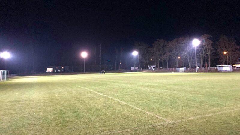 Zorza Pęgów oświetlenie boiska