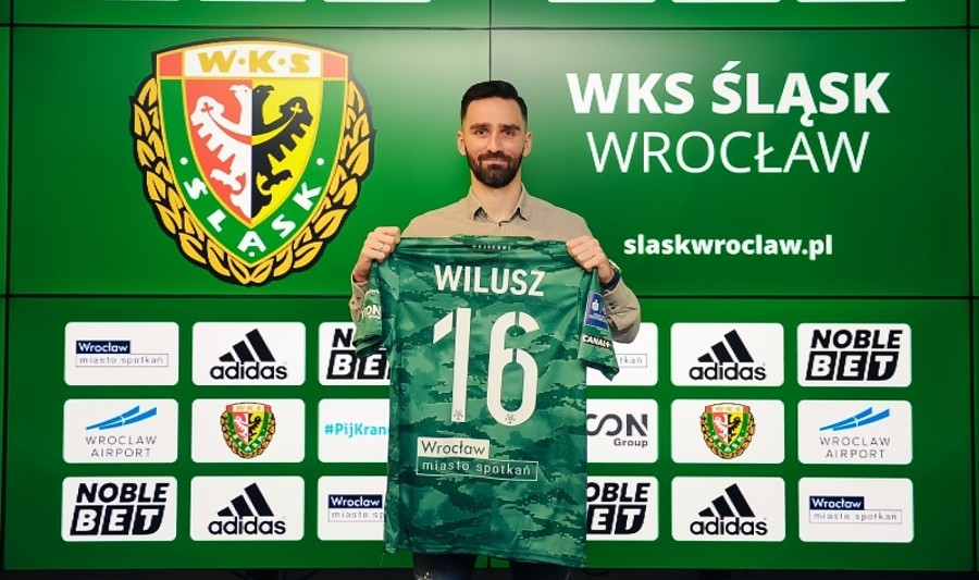 Maciej Wilusz piłkarzem Śląska Wrocław. Na początek na pół roku