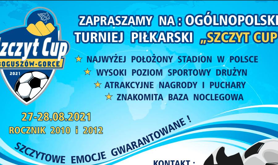 Szczyt Cup, czyli turniej na najwyższym boisku w Polsce. Można już się zapisywać