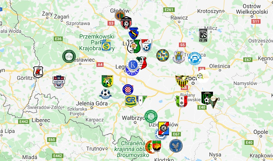 Podział IV ligi na grupy w sezonie 2021/22 [MAPA]